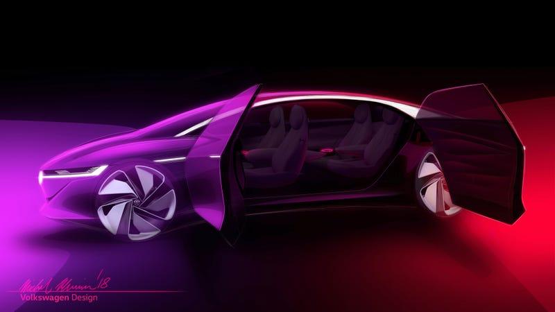 Volkswagen I.D. Vizzion Concept rendering