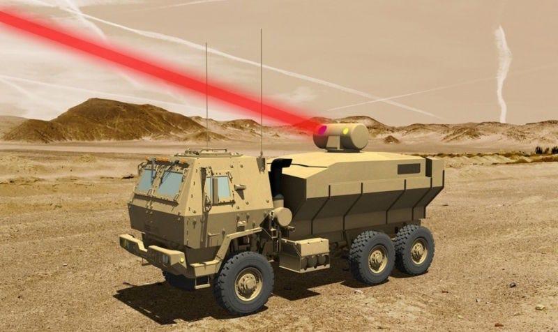 Illustration for article titled El ejército de los Estados Unidos pronto podrá derribar drones usando armas láser