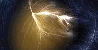Illustration for article titled New map shows where the Milky Way galaxy is inside its supercluster