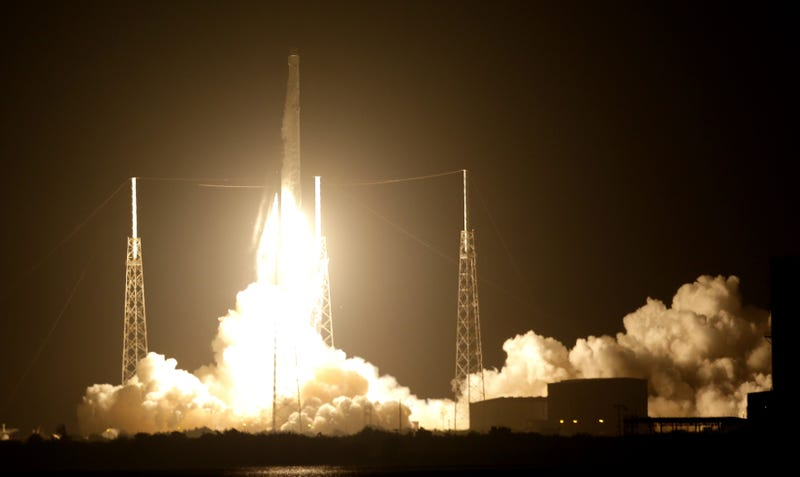 Falcon 9 at the launch on July 18. Photo Credit: John Raoux/AP
