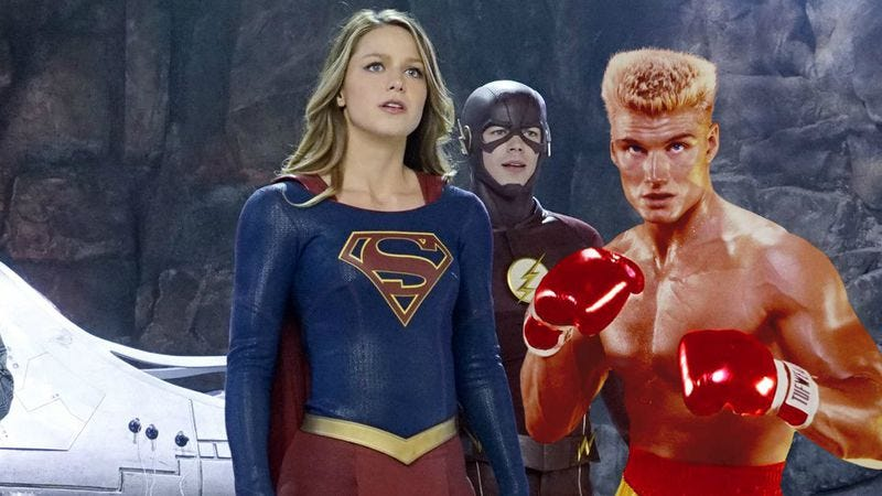 (Images: Supergirl/Rocky IV)