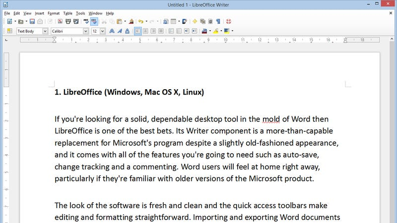 free word processor for windows seven