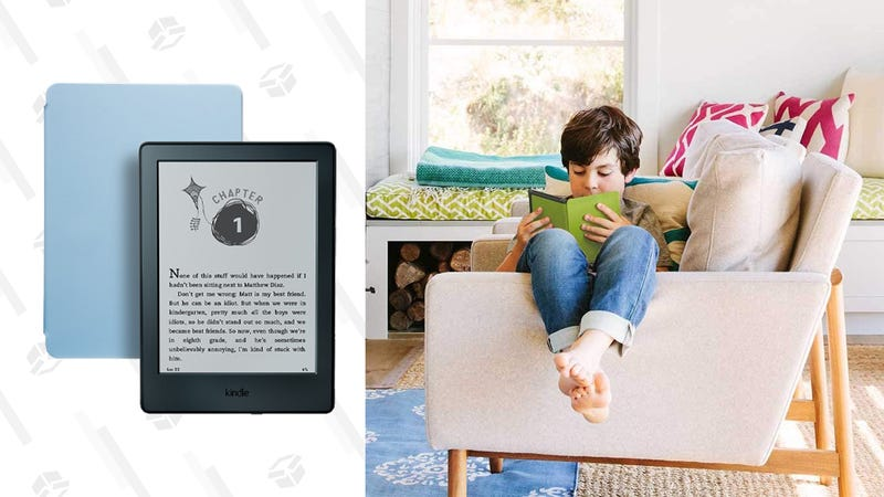 Kindle for Kids Bundle with Kindle E-reader 8th Generation, 2-Year Worry-Free Guarantee and Cover | $60 | Amazon