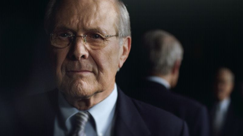 Illustration for article titled Donald Rumsfeld keeps his cool in The Unknown Known