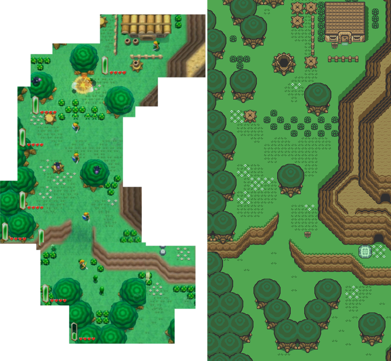 Illustration for article titled A Direct Comparison Of The New 3DS Zelda And Link to the Past