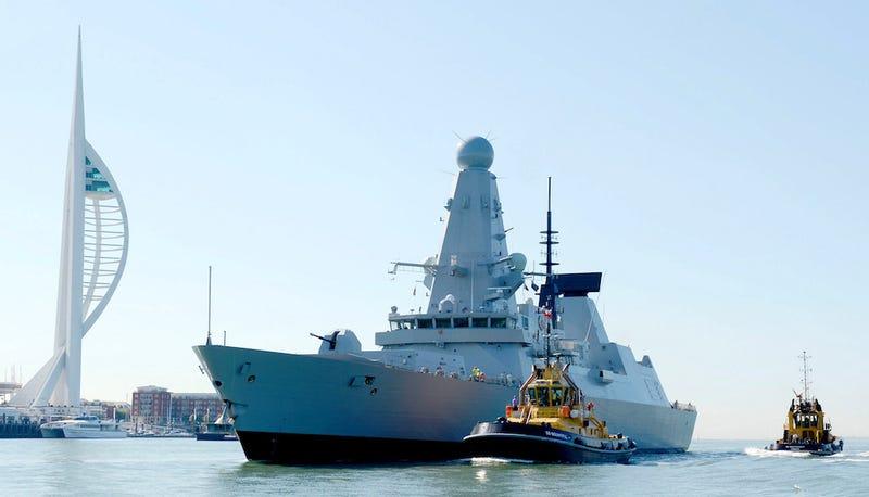 HMS Defender, uno de los seis destructores de la Clase 45. Foto: Getty Images.