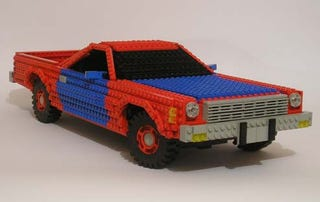 Illustration for article titled El Camino Immortalized In Lego!