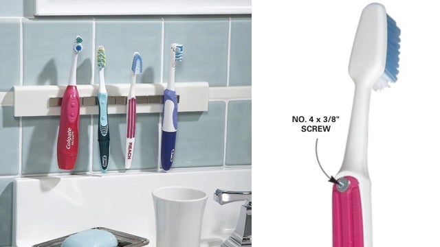 Magnetic Toothbrush Holder Cleanly Mounts Your Toiletries
