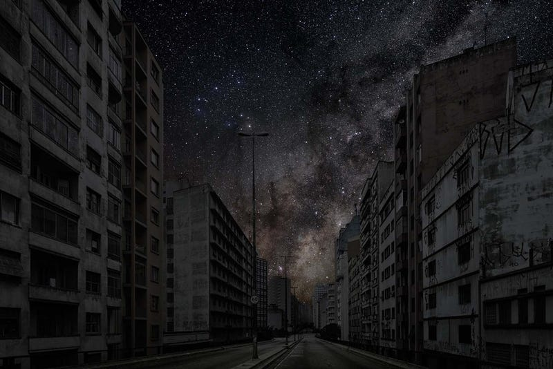 Stunning Pictures Imagine The Starry Night Skies Over Cities After - Beautiful video imagines cities without light pollution