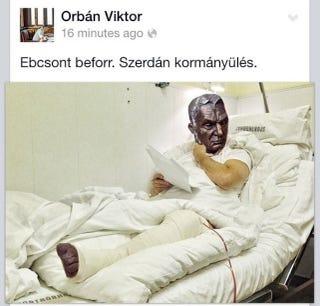 Illustration for article titled Kiderült, igazából miért kellett megműteni Orbánt