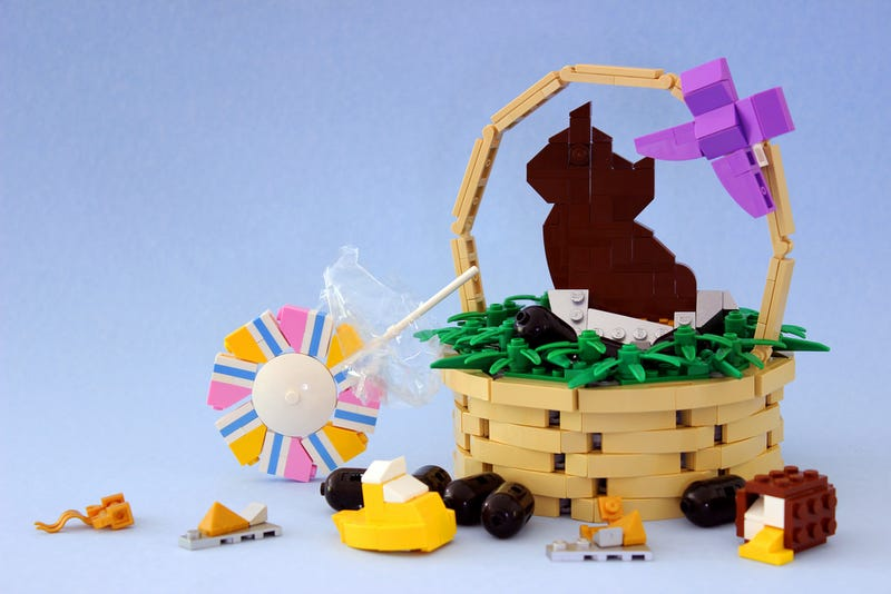 Illustration for article titled An Easter Candy Feast Made Entirely Of LEGO