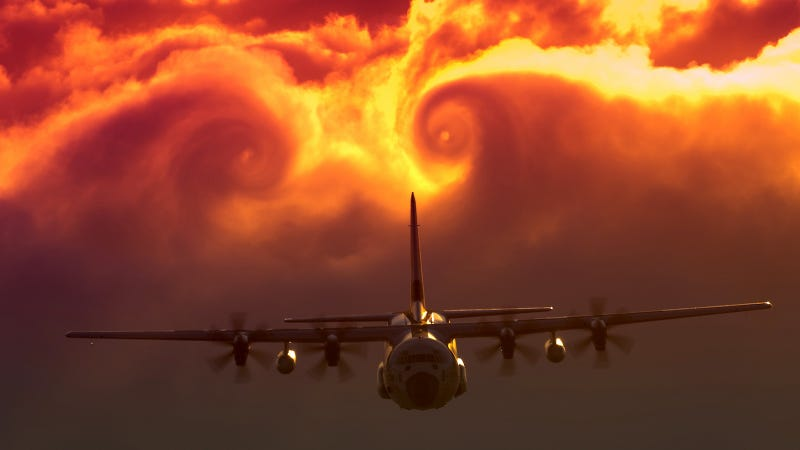 Illustration for article titled The Coast Guard Creates a Fiery Vortex in the Sky