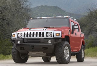 Illustration for article titled GM's New Variant-Edition Hummer H2 Paints The Town...Umm...Something