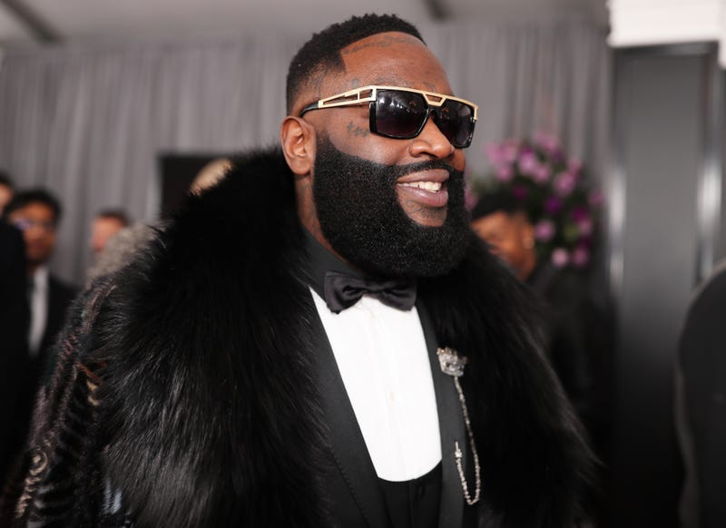 Recording artist Rick Ross attends the 60th Annual Grammy Awards at Madison Square Garden in New York City on Jan. 28, 2018.