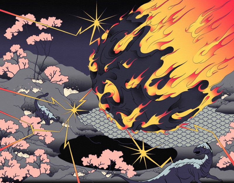 Illustration for article titled How Japanese Woodblock Prints Will Commemorate The Apocalypse