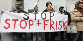 Activists march at a stop-and-frisk protest in New York City last year. (Mario Tama/Getty Images)