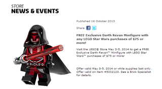 Illustration for article titled How To Get An Official Lego Darth Revan