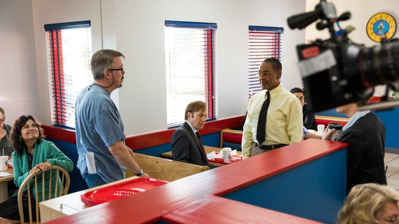 Vince Gilligan (left), Bob Odenkirk, Giancarlo Esposito (Photo: Michele K. Short/AMC/Sony Pictures Television)