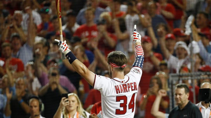 Illustration for article titled Bryce Harper Wins Extremely Kick-Ass Home Run Derby