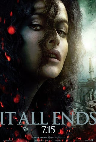 Illustration for article titled Harry Potter and the Deathly Hallows Part II Bellatrix Lestrange Poster