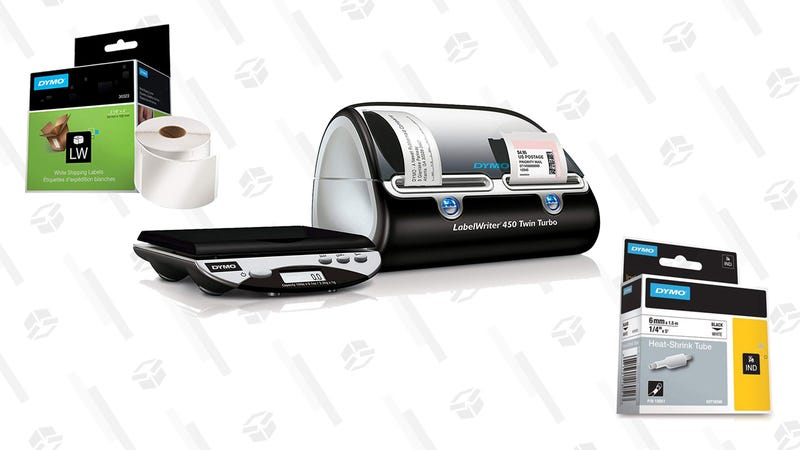 DYMO Authentic LW Standard Shipping Labels | $9 | AmazonDYMO LabelWriter Twin Turbo Label Printer and Scale | $163 | AmazonDYMO Authentic Industrial Heat Shrink Tubes | $22 | Amazon | Clip the 40% off coupon
