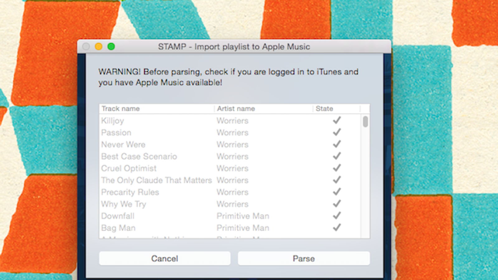S t A M P Imports Spotify Songs Into Apple Music
