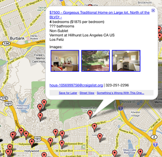 Illustration for article titled PadMapper Puts Craigslist Rentals on a Google Map