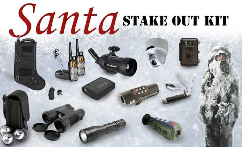 Illustration for article titled This $6,500 Santa Stakeout Kit Means Father Christmas Is Going Down
