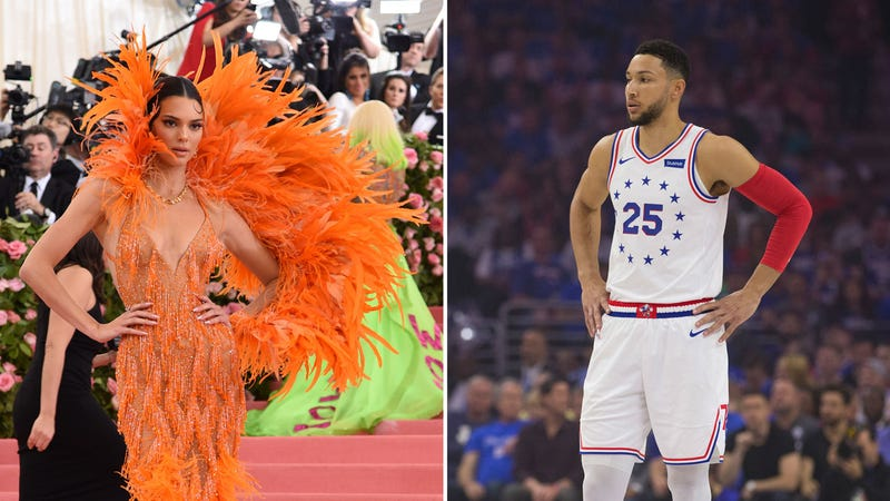 Photos: Kendall Jenner (Jamie McCarthy/Getty); Ben Simmons (Mitchell Leff/Getty)