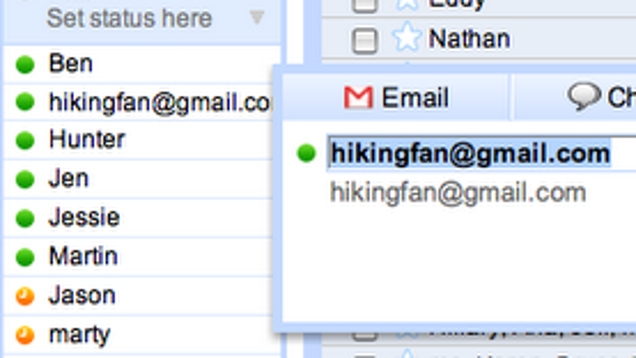 how to find contacts list in gmail