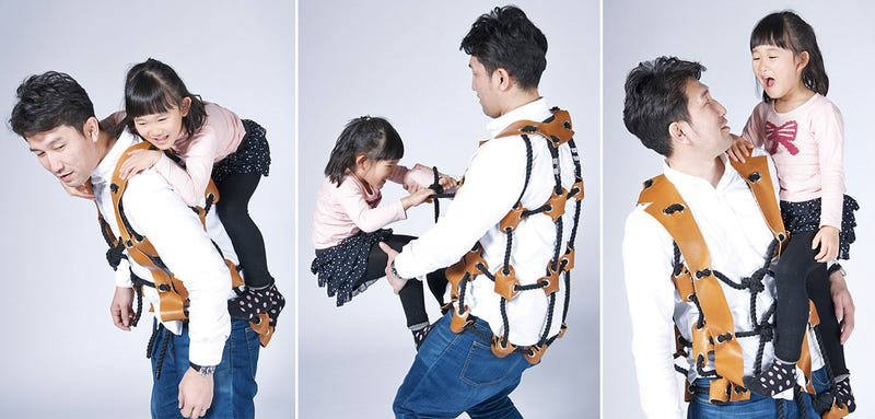 Illustration for article titled Parents Become Human Jungle Gyms While Wearing This Rope Vest
