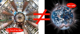 Illustration for article titled CERN to Morons: Large Hadron Collider Won't Destroy Earth. Morons.