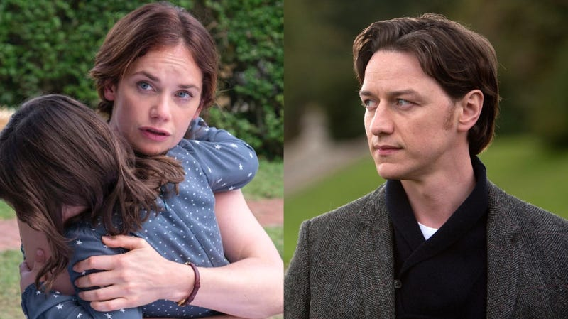 Ruth Wilson (left) in a scene from The Affair, and James McAvoy from his X-Men debut.