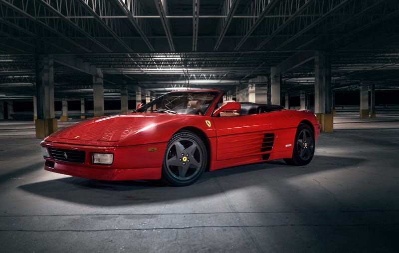 Illustration for article titled Your Ridiculously Awesome Ferrari 348 Spider Wallpaper Is Here