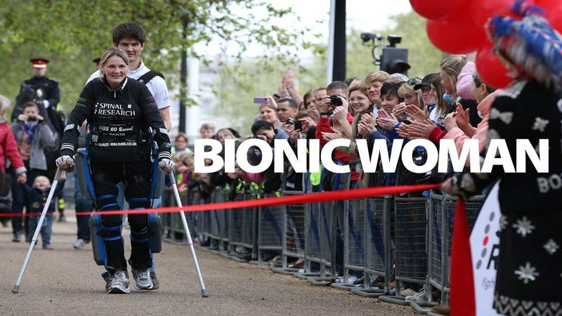 Illustration for article titled Badass Paralyzed Woman Finishes London Marathon in a Bionic Suit