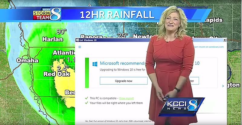 Illustration for article titled La mejor muestra de los absurdos avisos para actualizar Windows es este parte meteorológico