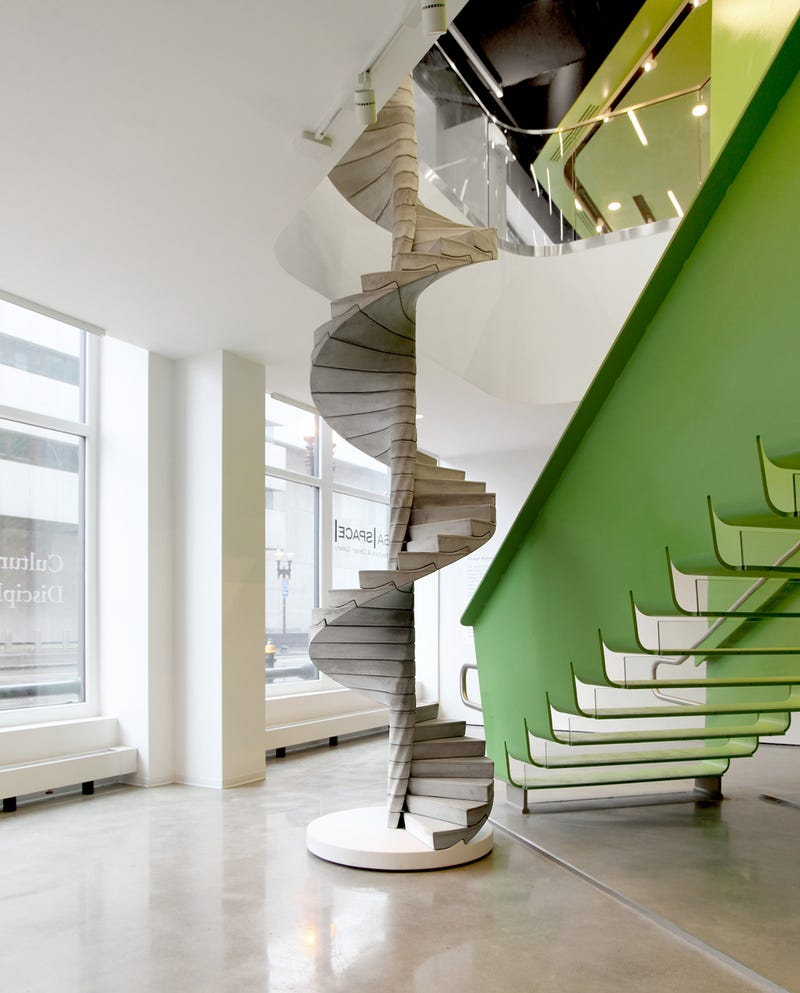 Illustration for article titled Helix concrete spiral staircase by Matter Design