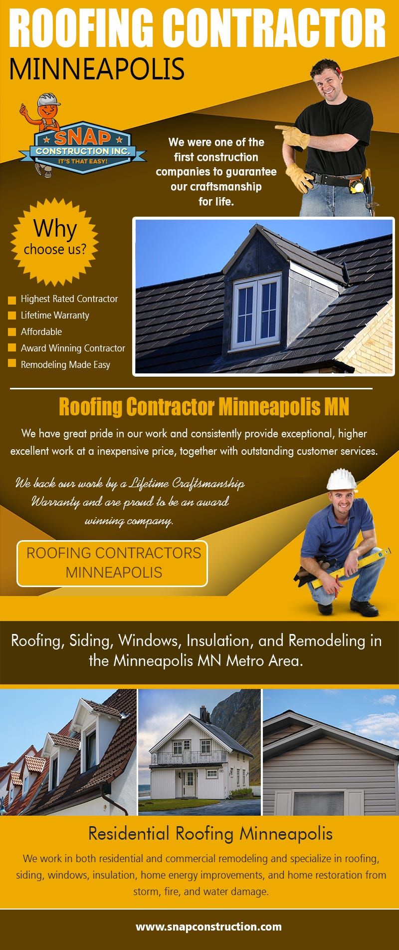 Illustration for article titled Roofing Contractor Minneapolis | Call us 6123337627 | snapconstruction.com