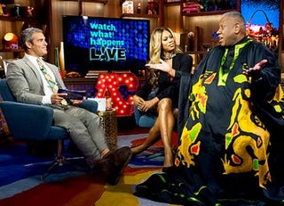 Andy Cohen, Laverne Cox and Andre Leon TalleyBravo