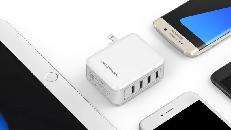 RAVPower 40W 4-Port USB Charger, $13 with code N5NEAK5N