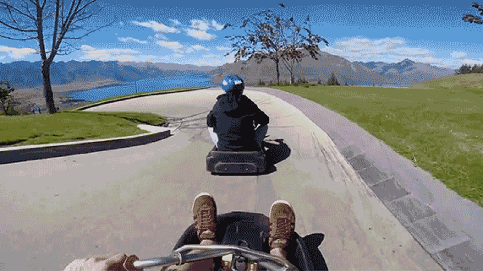 Go Karts Meet Luge On This Dangerously Fun Downhill Thrill Ride