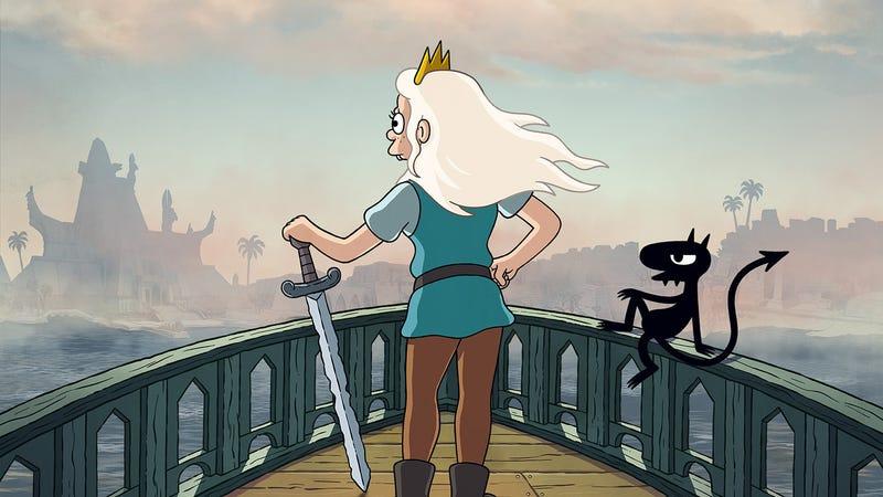 Illustration for an article entitled Matt Groening Disenchantment is back on September 20th