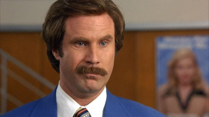Ron Burgundy is not invited