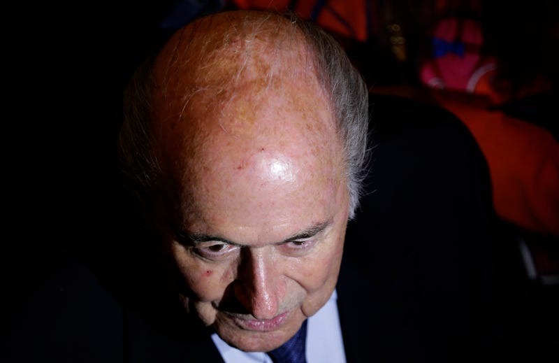 Illustration for article titled Sepp Blatter Shocked, Shocked To Find That Bribery Is Going On In Here