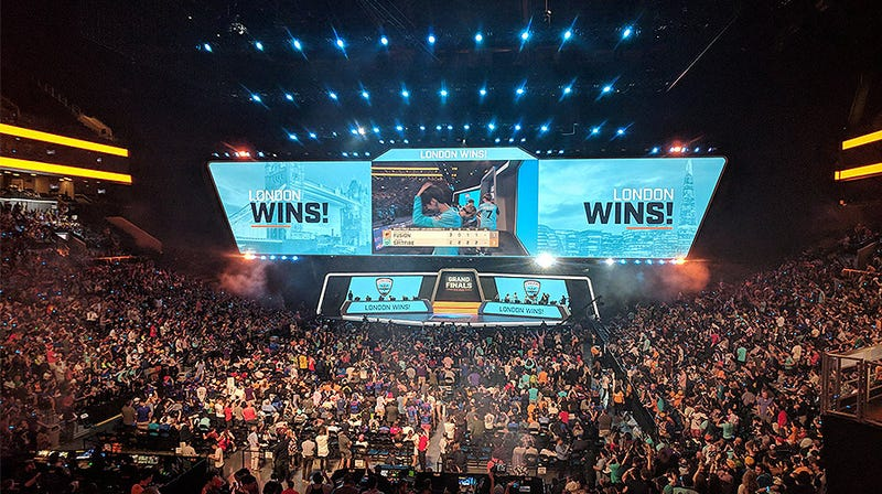 The Overwatch League Finals at the Barclays Center
