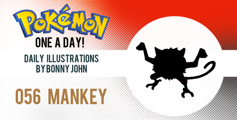 Illustration for article titled Monkeyin' around with MANKEY!  Pokemon One a Day!