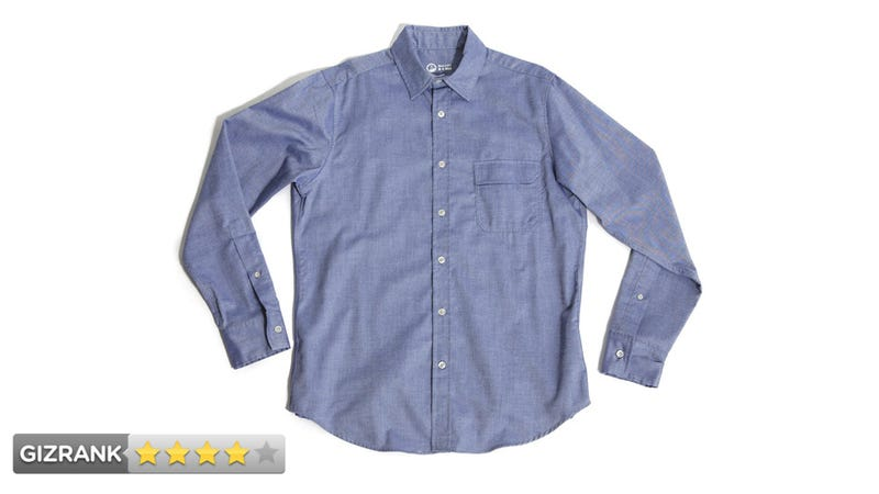 Outlier blazed cotton pivot shirt review can science save for Sweat stains on shirt