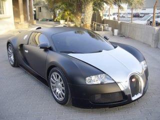 matte black bugatti veyron soaks up the dubai sun
