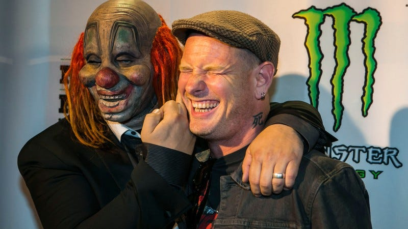 Corey Taylor and pal at some event sponsored by Monster Energy drinks (Image by: Getty Images)