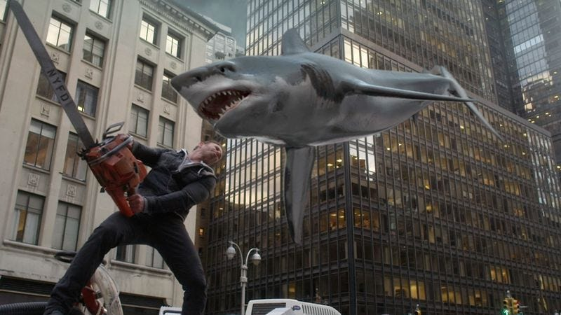 Illustration for article titled Sharknado 2 makes a brand new start of it in old New York